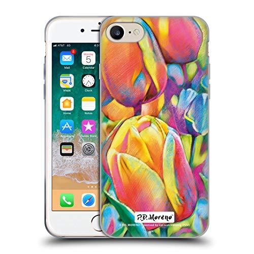 Head Case Designs Licenza Ufficiale P.D. Moreno Tulipani Designs Assortiti Cover in Morbido Gel Compatibile con Apple iPhone 7 / iPhone 8 / iPhone SE 2020