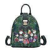 KERULA rucksack Damen Herren Studenten Backpack Laptop für Multifunktionsrucksack Camping Frauen-WaldmäDchen-Muster-Rucksack-Sutdent-Schulter-Schultasche GroßEr KapazitäT