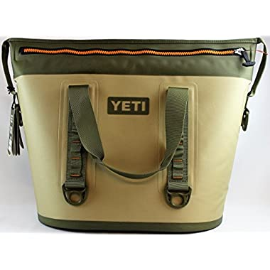 YETI Hopper Two 40 Portable Cooler, Field Tan/Blaze Orange