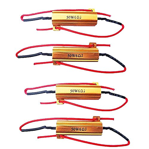 E Support™ 4 X KFZ Auto 50W 6 Ohm Lastwiderstand Widerstand für LED SMD Blinker