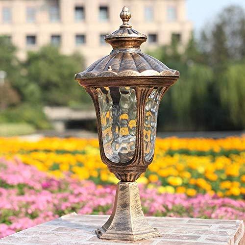 Liunce IP54 Vintage Terrassengang Rasensäule LampTraditional Victoria Retro Außenpfostenleuchte Aluminium Metall Außenleuchte Leuchte Balkonpfosten Laterne Wasserdichte Gartentischlampe
