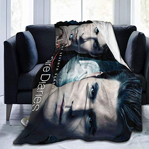 Fleece Throw Blanket, Vampire Diaries Damon Salvatore Blanket Poster Throw Blankets for Bedroom for Couch Flannel King Size 40x50 in Soft Warmwinter Throw Blanket for Adults Girl