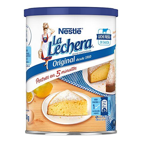 NESTLÉ LA LECHERA - Leche condensada entera - Lata de leche condensada entera abre fácil 740g