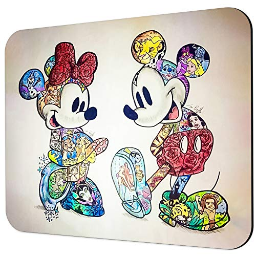 DISNEY COLLECTION Mouse Pad Mickey Minnie Rectangle Mouse Pads Non-Slip Rubber Gaming Mousepad for Computers Laptop MAC PC
