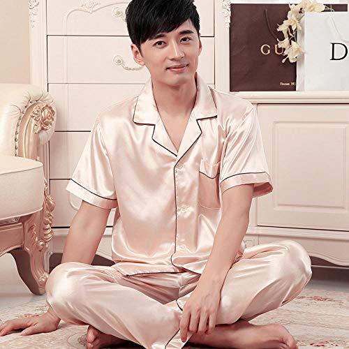 SleepWears Badjas, pyjama, dun, van ijszijde, voor mannen, zomer, korte mouwen, grote maten, casual, voor heren, lente en herfst, paar, zomer, zijde