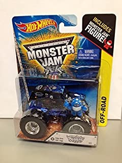 Monster jam Son-uva digger includes monster jam figure with edge glow roll cage New #2 hot wheels off-road