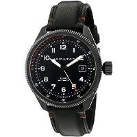 Hamilton Khaki Aviation Automatic Black Leather Men's Watch