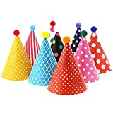 pink birthday cone hats - Vesil Kids Birthday Party Hats, Assorted