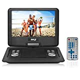 "Pyle Portable DVD CD Player - 14"" High-Resolution TFT Swivel Angle Foldable Display Screen Built-in Rechargeable Battery USB/SD Card Readers 32GB Memory & Multimedia Support w/ Remote Control - PDH14"