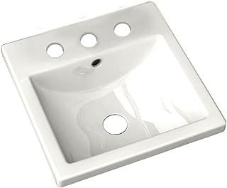 American Standard 642008.020 Studio Ceramic undermount Square Bathroom sink, 16.25