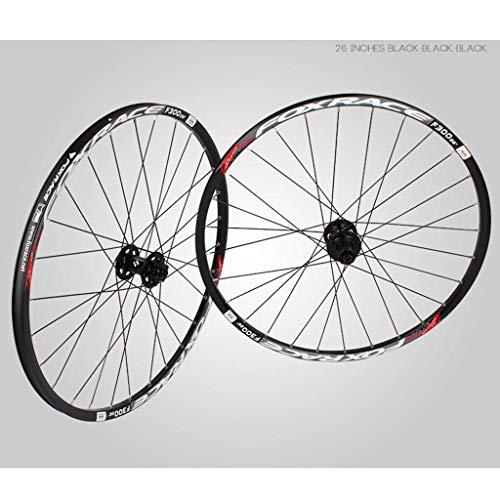 WYN Vélo Wheelset for 26 27,5 29 Pouces Double Mur Double MTB Rim Frein Discothèze Libération Rapide Roues de vélo de Montagne 24h 7 8 9 10 Vitesse (Color : C, Size : 26inch)