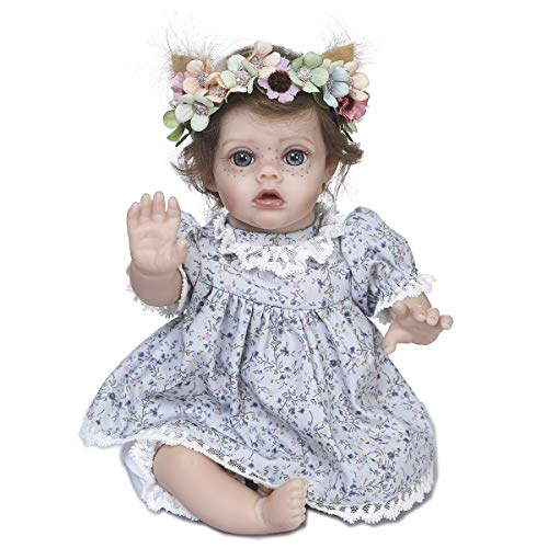 Kokomo 12 inch Lovely Elf Reborn Baby Dolls Real Life Silicone Preemie Baby Dolls Fairy Girl Big Size Blue Eyes Collectible Toys Gifts