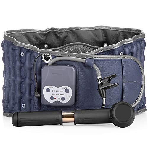 Cordless Heating Pad Belt Operated by Rechargeable Battery for Lower Back Pain Relief, Portable Lumbar Traction Device, One Size Fits 29-49 Waist
