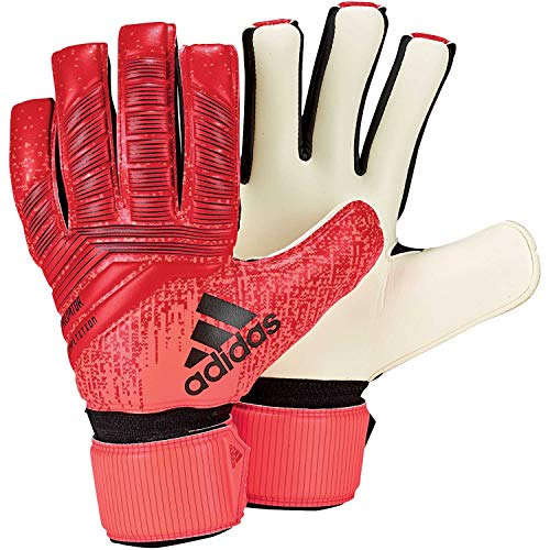 adidas Pred Comp Goalkeeper Gloves (W/O Fingersave), Unisex Adulto, Active Red/Solar Red/Black, 11