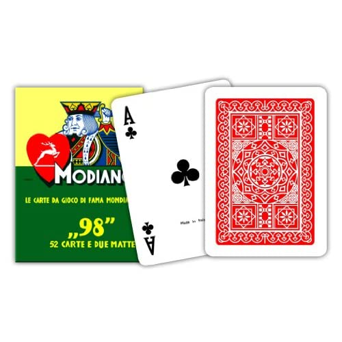 Modiano 300252 Poker 98, Carte da Gioco, Rosso