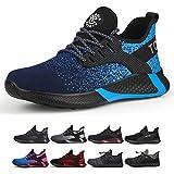 Tqgold S3 Chaussures de sécurité légères pour homme et femme Adaptées pour l'été Chaussures de travail avec embout en acier - - 8195 Blue, 43 EU EU