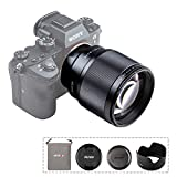 VILTROX 単焦点レンズ EF 85mm F1.8 STM 二代目 瞳AF対応 Sony Eマウント用 フルサイズ対応 Eマウント交換レンズ F1.8大口径 ソニー A7シリーズ/A6400/A6500/A6300などに適用