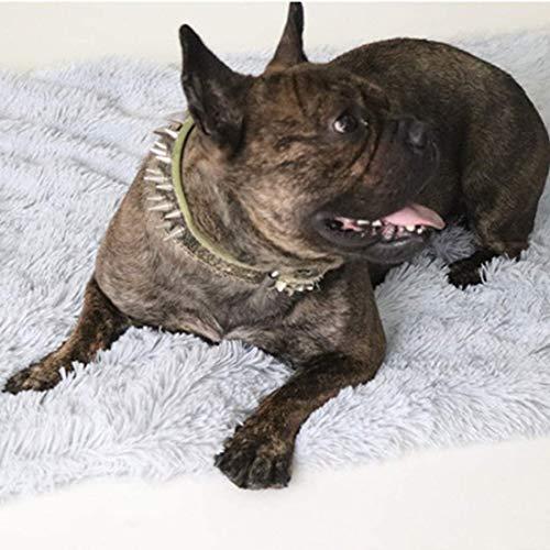 CTTPEG Plüsch-Haustierbett, Haustierpolster, Hundevliesdecke, Haustierbett für Katzen, mittelgroße Hunde und Katzen (Dunkelgrau)