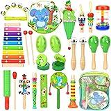 Victostar Instruments de Musique avec Sac à Dos Jouets musicaux en Bois pour bébé Instruments de Percussion pour Les...
