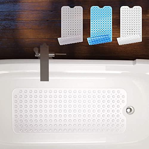 Badewannenmatte von BEARTOP | 40 x 100cm | ca. 200 Saugnäpfe | BPA frei | rutschfest | waschbar in der Maschine | schimmel-resistent | verschiedene Farben | Zufriedenheitsgarantie (3 Jahre)