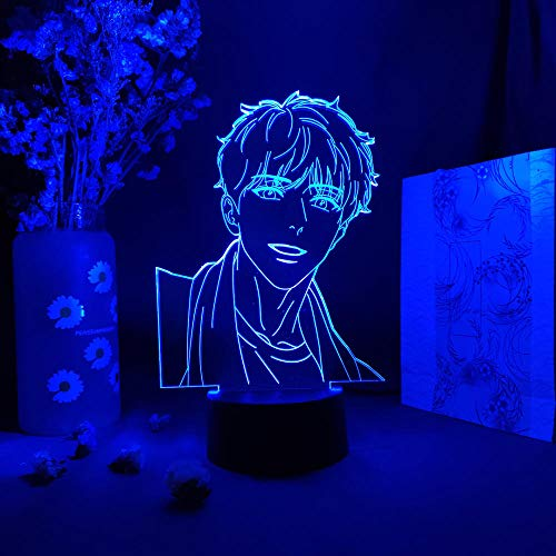 3D-Illusionslampa Led Nattlampa Anime A J Alex Otaku Sovrum Art Deco Sovrum Skrivbord Dekoration Pojke Flicka Födelsedagspresent