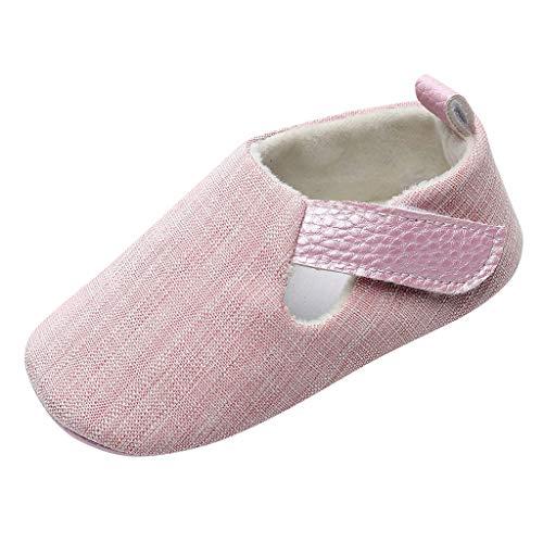 YWLINK Ropa De Bebe Nuevos Bebé ReciéN Nacido NiñOs Zapatos De Dibujos Animados Sandalias Primeros Andadores Zapatos Fondo Blando Antideslizantes Hebilla Lindo Casual Regalo De Bautismo(Rosado,11EU)