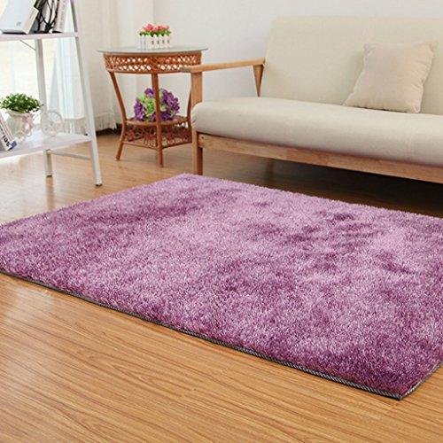 Di Dani Raum Couchtisch Wohnzimmer Schlafzimmer Teppichgeschäft für japanische und koreanische Art 120 × 170cm (Farbe : Helles Lila)