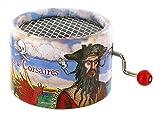Caja de música / caja musical de manivela de cartón adornado - El tema de Davy Jones - Piratas del Caribe (Hans Zimmer)