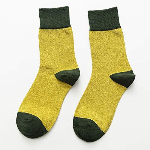 Transpirabilidad cálida y cómoda para Mujeres. Colores Mezclados de Plata de Invierno Cebolla Calcetines 5 Pares de Medios de Mezclado (Color : A)