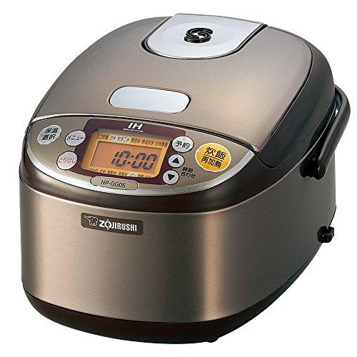 象印 炊飯器 3合 IH式 極め炊き ステンレスブラウン NP-GG05-XT