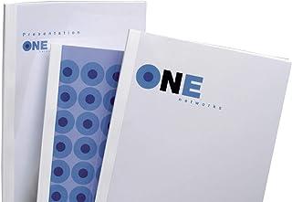 GBC Réf. IB370021 Lot de 100 couvertures thermique de reliures Recto PVC transparent / Verso brillant Blanc 3 mm A4