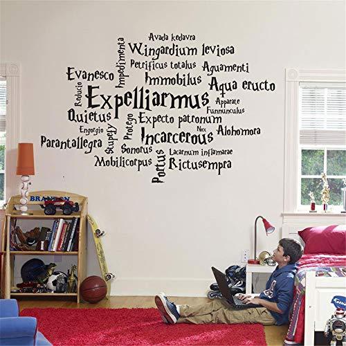 adesivo muro adesivo murale bambini Personalità film di Harry Potter Incantesimo magico Anime Movie Fan Home Decoration