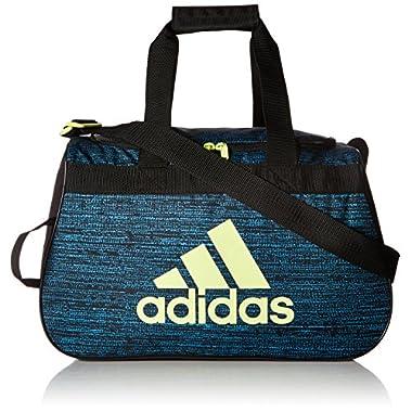adidas Women's Diablo small duffel Bag, Bright Cyan Subdued/Black/Frozen Yellow, One Size