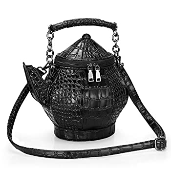 Gothic Purse Teapot Shaped Crossbody Handbag Novelty Witchy Gift Top-handle Funky Tote Women s Shoulder Bags