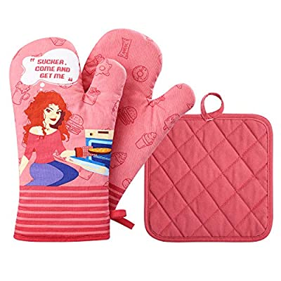 Amazon - Save 20%: Glotoch 2pcs Oven Mitts and Potholders,BBQ Gloves-Oven Mitts and Pot Holde…