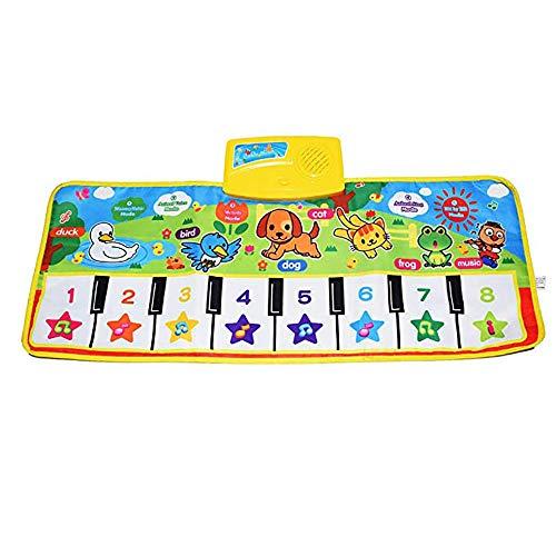 Linqly Manta del Juego de Piano para niños, Teclado táctil para Tocar Juego de música Alfombra para Gimnasio Alfombra, Tapete para música, Tapete para Piano Fresco para el hogar