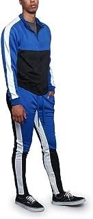 005c828a37 G-Style USA Men's Side Stripe Zipper Jacket Drawstring Waistband Tracksuit