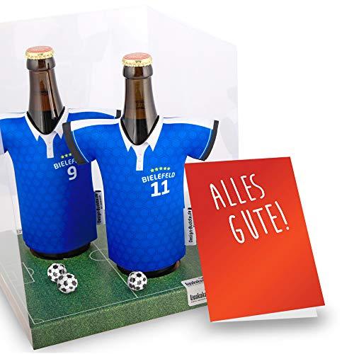 Der Trikotkühler | Das Männergeschenk für Bielefeld-Fans | Langlebige Geschenkidee Ehe-Mann Freund Vater Geburtstag | Bier-Flaschenkühler by Ligakakao