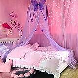 Baldachin Mädchen Krippe Netting Zimmer Hing Bett Spielen die Runde Kuppel Kids Mesh Princess...