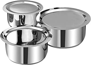 Vinod Induction Friendly Tope Set with lid- 3 Pieces