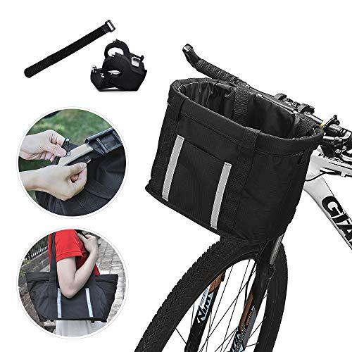ANZOME Fahrradkorb Schnell Abnehmbarer Fahrradkorb für Haustiere, Einkaufen Picknick Pendler im Freien, Haustierträger, Aluminium-Legierung Rahmen