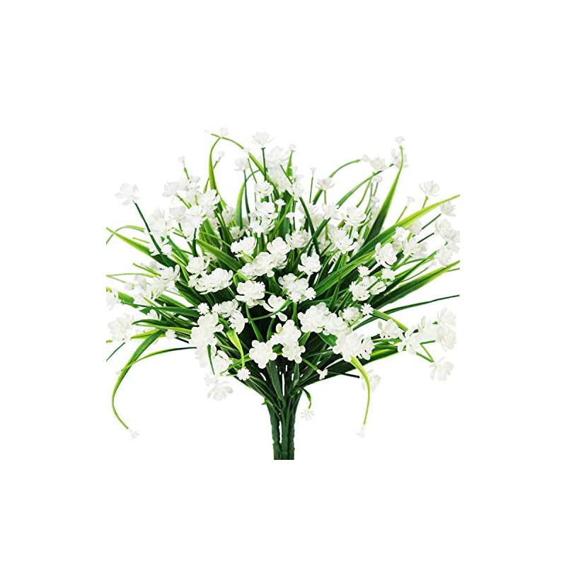 silk flower arrangements artificial daffodils flowers,fake plant outdoor faux white orange flora greenery bushes fence indoor outside decor