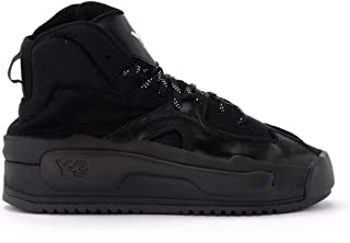 Y-3 Woman's Sneaker Hokori Model in Mesh and Black Leather