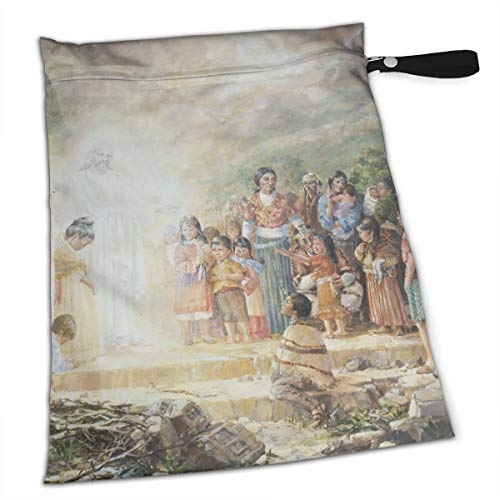 Pummbaby Moses Jesus Shaman Workout Laundry Reusable Wet Dry Separation Travel Beach Gym Tote Bags Wet Dirty Clothes and Wet Wipe Holder for Diaper Packing Bag Pads Hanging