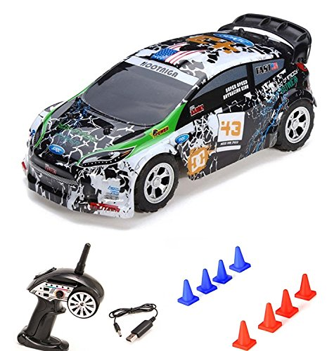 HSP Himoto 1/24 On Road Mini RC auto telecomando Rally Car, 2 WD Drive e 2.4 GHz Top della velocità fino a 25 km/H, completo di set RTR