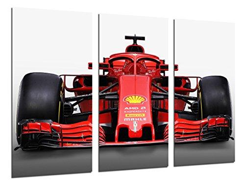 Poster Fotográfico Formula 1Coches, Ferrari F1sf71-h, Ferrari F12018, Sebastian Vettel, Kimi Raikkonen Tamaño total: 97 x 62 cm XXL