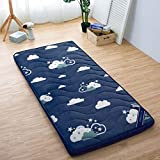 LASHI Piso de Piso japonés Piso Futón Colchón Tatami Mat Sleeping Pad Roll Up Colchón Colchón Camping Colchón Plegable...
