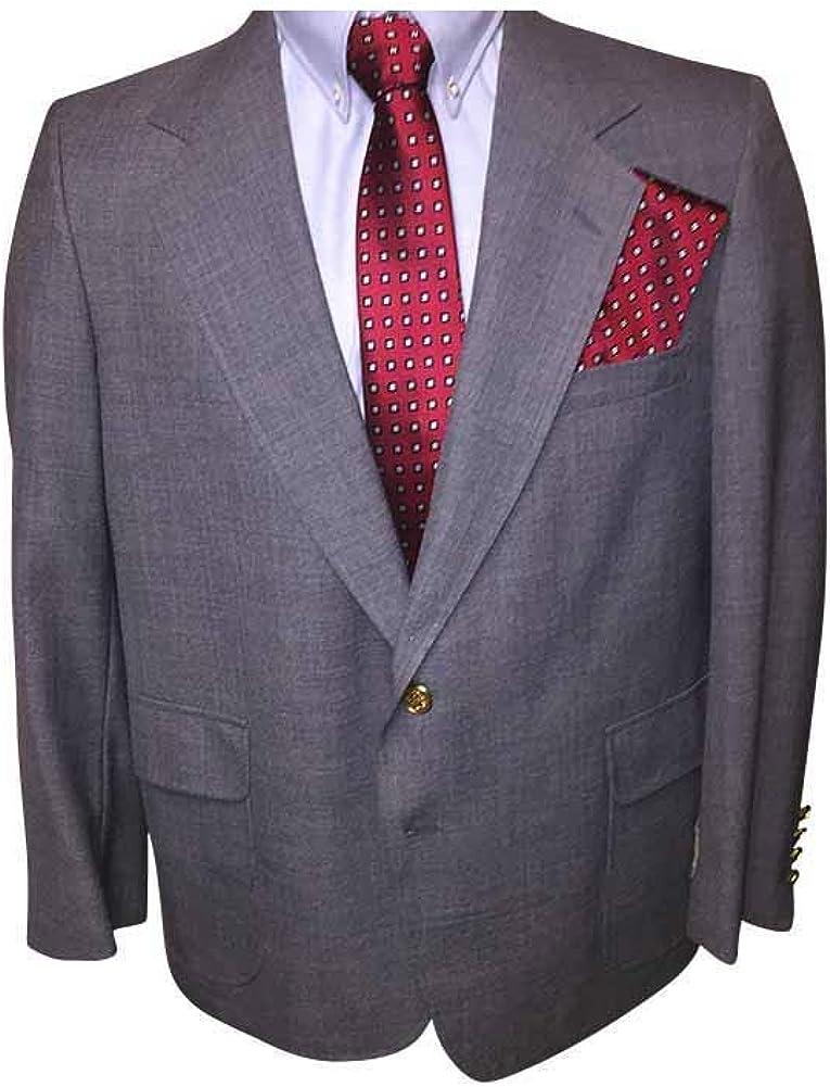 42 Short Portly USA Made Executive Slate Blue Blazer 42PS