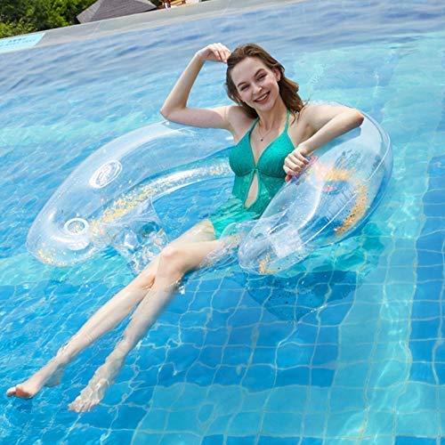 Fila Flotante Inflable, Fila Flotante con Respaldo de Agua Inflable Piscina Hamaca Flotante Flotante Silla de Cubierta Flotante Anillo de natación para Entrada de Agua (Piscina)