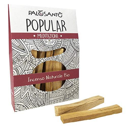 Palo Santo Stäbchen Variante Popular Suyo - Natürlicher Weihrauch – 100% Bursera Graveolens – Zertifiziertes Holz - 80 gr.